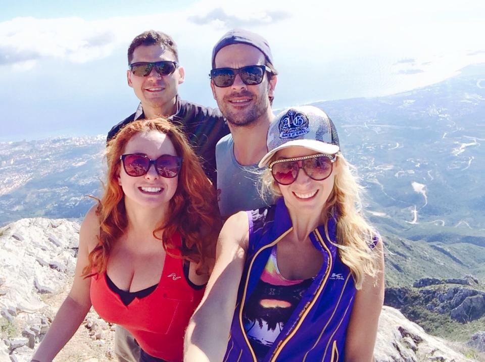 Viaje subida a montaña la Concha con amigos