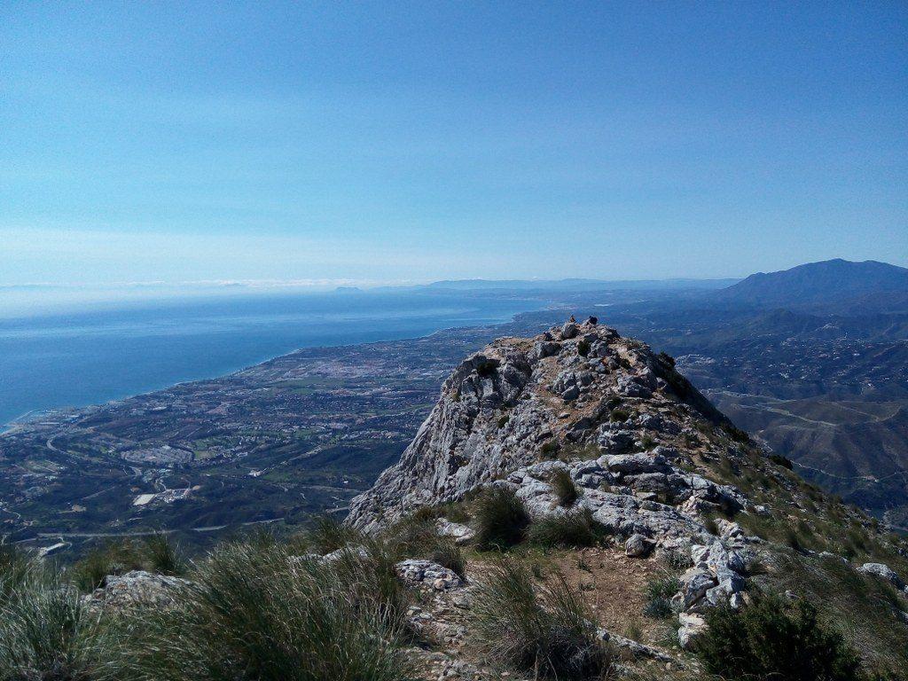 Vistas desde montaña Concha Marbella España