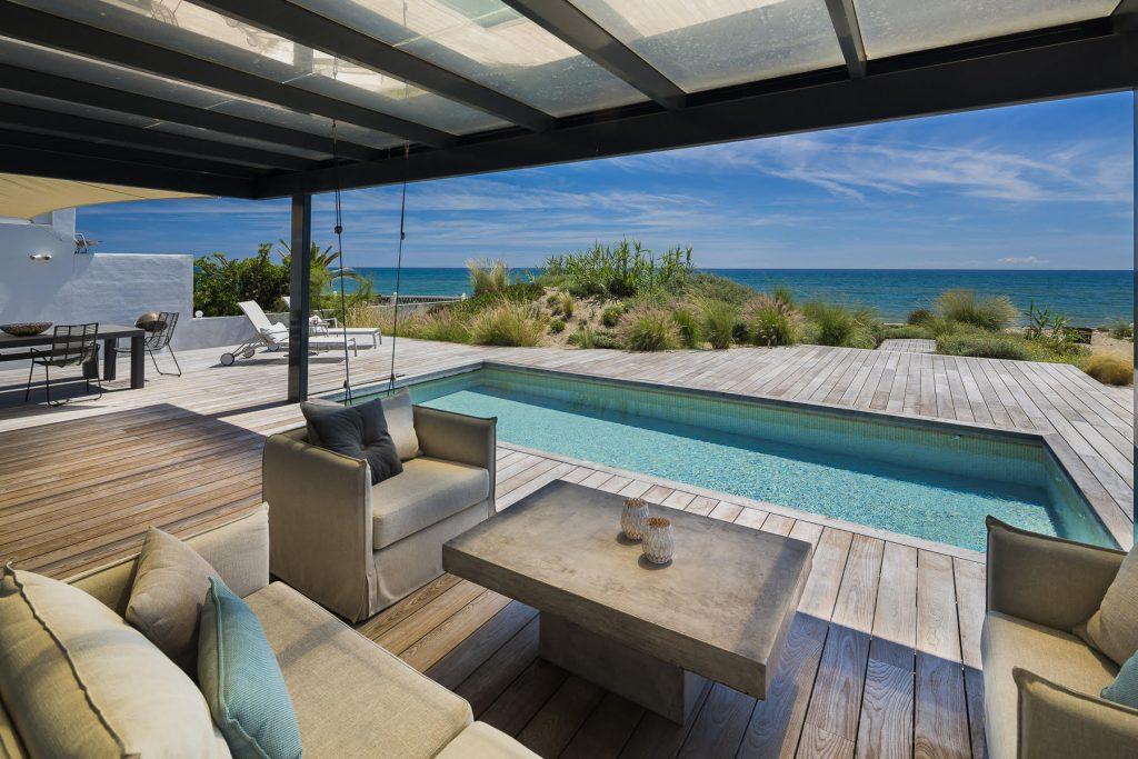 Vistas a la playa desde casa de lujo en marbella